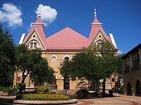 Old Main Academic Building at TSU in San Marcos