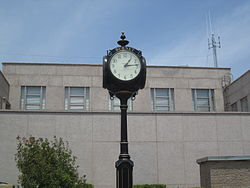 Clock at Burnet County TX Courthouse